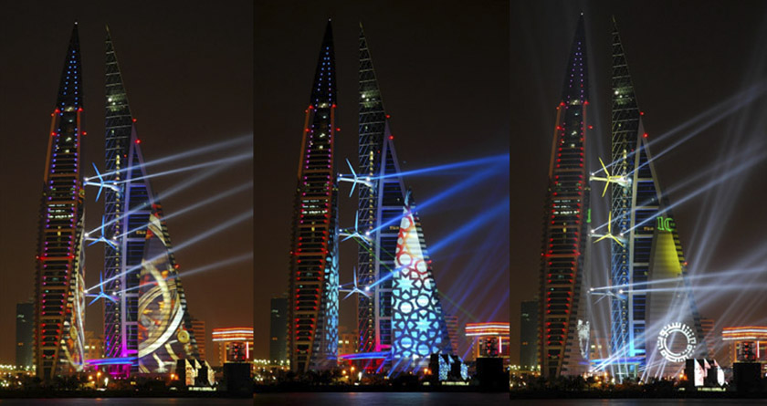 LDPi Project   Bahrain World Trade Centre Lighting Design | Lighting Design  Partnership International